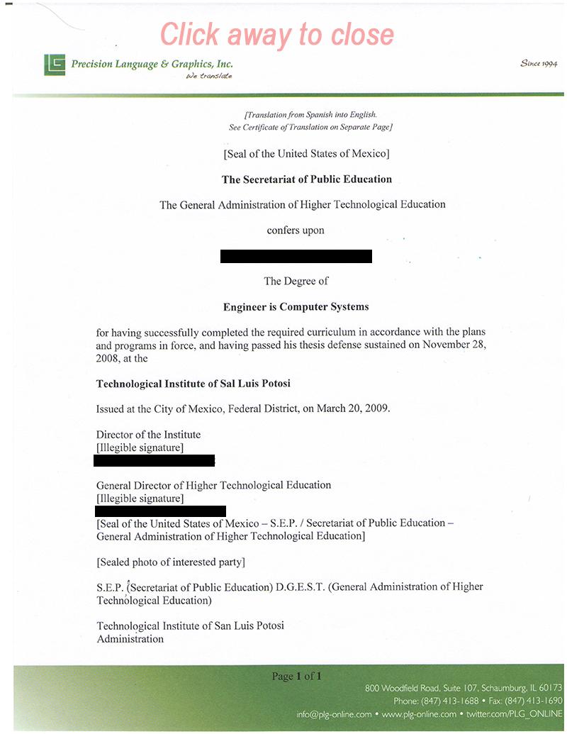 free translation spanish to english documents
